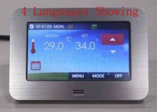 110V/220V Gas Boiler Electric Heating Programmable Color Touch Screen