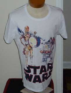 Star Wars R2 D2 C3PO Two Man Band T Shirt Womens Large With Tags