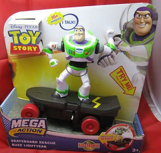 Disney Toy Story Buzz Lightyear talking electronic toy on skateboard