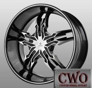 20 Black Verde Thorax Wheels 6x139.7 6 Lug Chevy GMC Titan Tundra