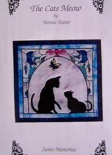 THE CATS MEOW ~ Kitty Cat Applique Quilt Pattern ~EASY