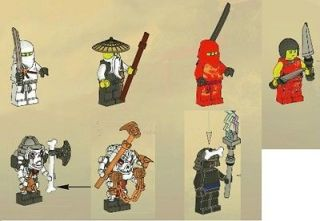 NEW ALL 7 MINIFIGURES ONLY Lego Ninjago Fire Temple 2507 NO TEMPLE NO