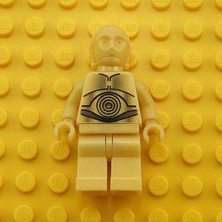 3PO (Pearl Light Gold) LEGO Minifigure Star Wars Minifig 4475 7190