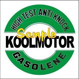 Gas 2x2 Gas Vinyl Stickers Oil Decals Gasoline Pump Signs Globes