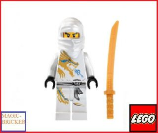 LEGO Ninjago MiniFigure Ninja Zane DX Dragon Suit WITH GOLDEN WEAPON