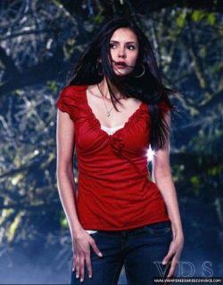 Vampire Diaries ELENA GILBERT Old Navy Ruffle frill Tie PEASANT Top