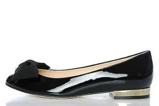 Womens Shoes ELISABETTA FRANCHI Ballet Flat 240 NERO Slip On Patent