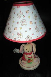 PLUSH BUNNY RABBIT CHILDRENS NURSERY LAMP