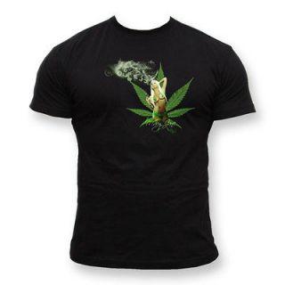 shirt I LOVE GANJA Rasta Reggae Jamaica Smoking Spliff Cannabis