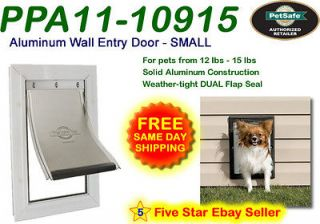 Petsafe SMALL Premium WALL MOUNT Aluminum Pet Dog Cat Door PPA11 10915