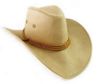 Faux Leather Hat Cap Cowboy Mens Western Large Womens w/ chin strap