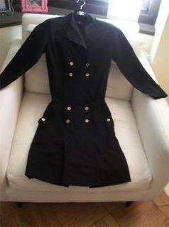 DRESS skirt suit piece 34 36 38 XS S 2 4 BLACK gold buttons CC & bag