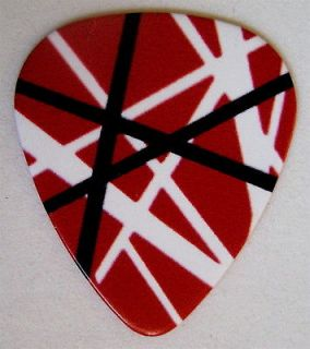 Eddie Van Halen Red Striped Guitar pick EVH awesome rock n roll swag