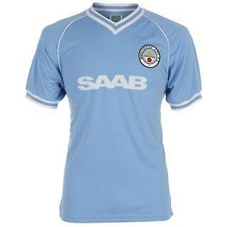 Mens Retro Jersey   Manchester City FC 1982 Home Shirt   Size S M L XL