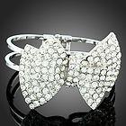 Swarovski Austrian Crystal Bracelet Black  8 Row NEW Stretchable