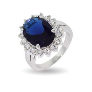 Newly listed NEW Royal Princess Blue Sapphire crystal Engagement Ring