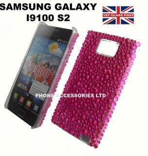 HOT PINK CRYSTAL SYTLISH DIAMOND BLIN CASE COVER FOR SAMSUNG 19100