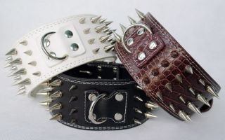 Colors) New Styles 3 XL L M Spiked Leather Dog Collars Pitbull Dog