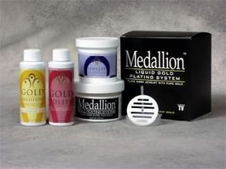 LIQUID GOLD PLATING SYSTEM JEWELRY IMMERSION KIT, GOLD PLATING KIT