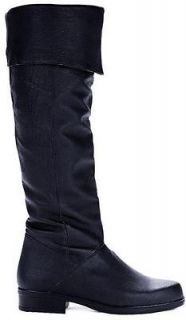 Ellie Shoes Sexy Knee High Boot Pig Leather Black Mens Size 125 ZOLA