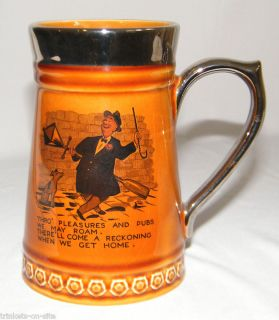 Pottery Lord Nelson Mug Stein Cup England Drinking Man