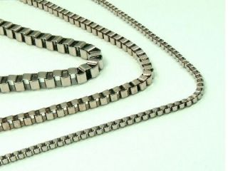 MEN WOMEN High Quality STAINLESS STEEL 2mm / 3mm / 4mm BOX Chain
