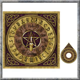 Fantasy ~ OUIJA BOARD ~ By Lisa Parker ~ Wooden Celtic Design Board