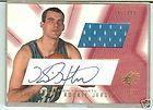 2001 02 Fleer Exclusive Kirk Haston Player Worn 3 Color Patch