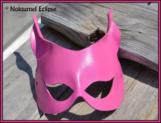 CATWOMAN PINK LEATHER MASK MASQUERADE HALLOWEEN COSTUME