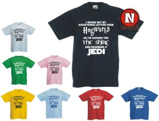 Hogwarts LOTR Jedi funny spoof Childrens Kids t shirt 1 13 years