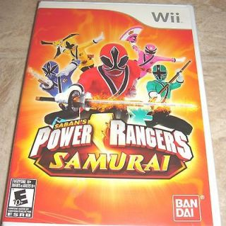 Power Rangers Samurai for Nintendo Wii Brand New, Factory Sealed