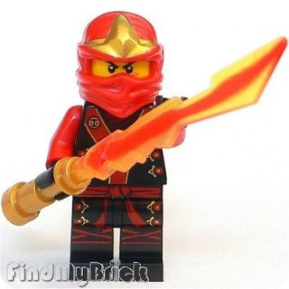 C119 Lego Ninjago Kai Ninja Minifigure & Legendary Blade of Fire Sword