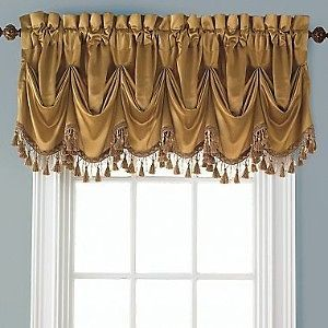 CHRIS MADDEN FAUX SILK MYSTIQUE VICTORY VALANCE   COOL WHITE