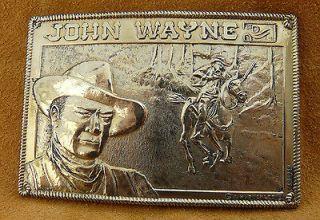 Vintage Western Cowboy John Wayne Belt Buckle