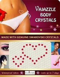 GENUINE AUTHENTIC VAJAZZLE TEMPORARY CRYSTAL BODY TATTOOS –BODY