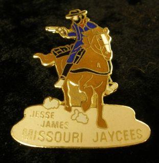 Missouri Jaycee Pin LARGE Jesse James on Horse