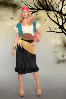 NEW STYLE GYPSY ESMERALDA WENCH PARTY FORTUNE TELLER ADULT COSTUME