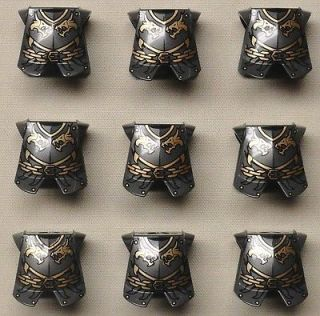 x9 NEW Lego Castle Minifig Armor Breastplate Kingdoms Dragon Head
