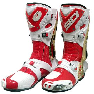 Vortice Motorcycle Boots Westby Replica Red White Gold Size 45 / 11 US
