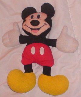 Stuffed Beanbag Plush Mickey Mouse Disney 7 High Red Shorts Yellow