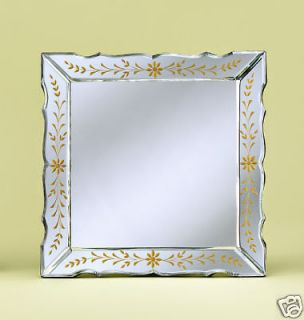 PAULA POLISHED HAND CUT VENETIAN GLASS TABLE MIRROR