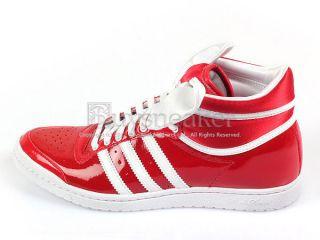 Adidas Top Ten Hi Sleek Bow W Red/White Originals Patent Trefoil 2012