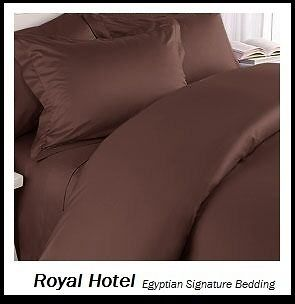 Solid Chocolate Twin Extra Long 6pc Bed in a bag 1000 TC 100% Egyptian