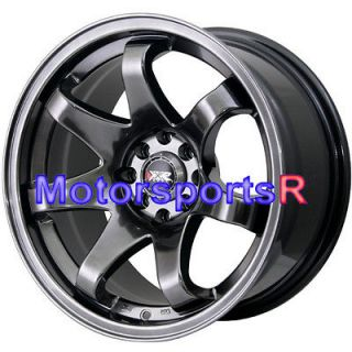 16 16x8 XXR 522 Chromium Black Concave Rims Wheels Stance 90 00 05