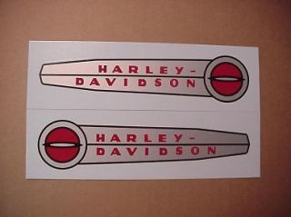 Harley Gas Tank Decal Set 1948 1950 Model 125 61770 47