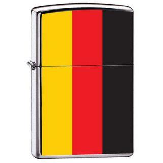 German Flag Germany Colors Polished Chrome Zippo Lighter