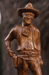 VINTAGE Ceramic JOHN WAYNE Hollywood Western Cowboy The Duke Statue