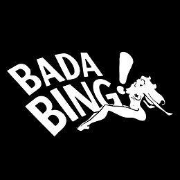 BADA BING Ba Da Bing The Sopranos Jersey mafia Stripper Tony T Shirt