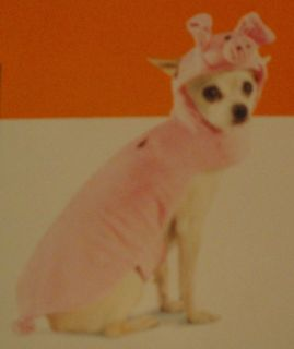 Dog PINK PIG Costume   New! Size Small 5 15 lbs *Free US Ship! Pom Pug