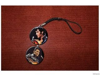 ELVIS PRESLEY black leather jacket cell / hanging charm